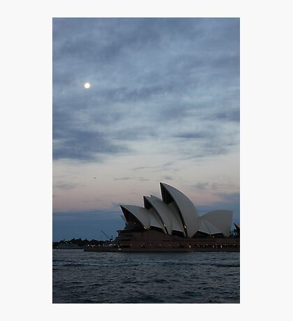 Opera by the Moon Photographic Print