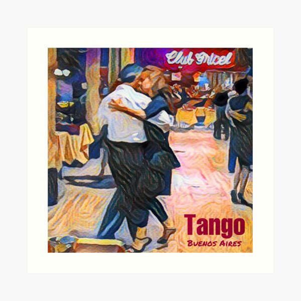 Club Gricel - Tango in Buenos Aires Art Print