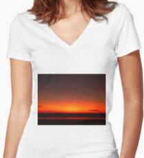 Broome Sunset, Western Australia Women's Fitted V-Neck T-Shirt