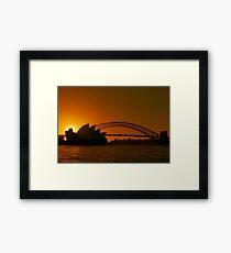Sydney By Sunset Framed Print
