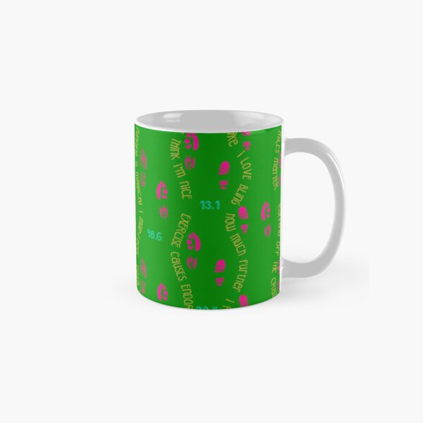 Funny Running Vibes - Green background Classic Mug
