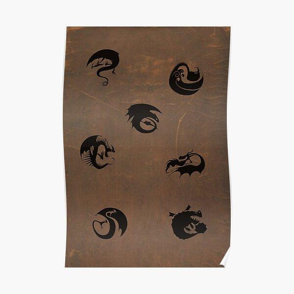 Httyd Dragon Class Symbols Poster