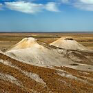 Cream Hills - Painted Desert - South Australia by Jeff Catford