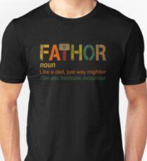 Fa-Thor wie Dad Just Way Mightier Hero Slim Fit T-Shirt
