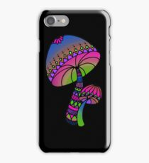 Shrooms - pink/blue/green/purple iPhone Case/Skin