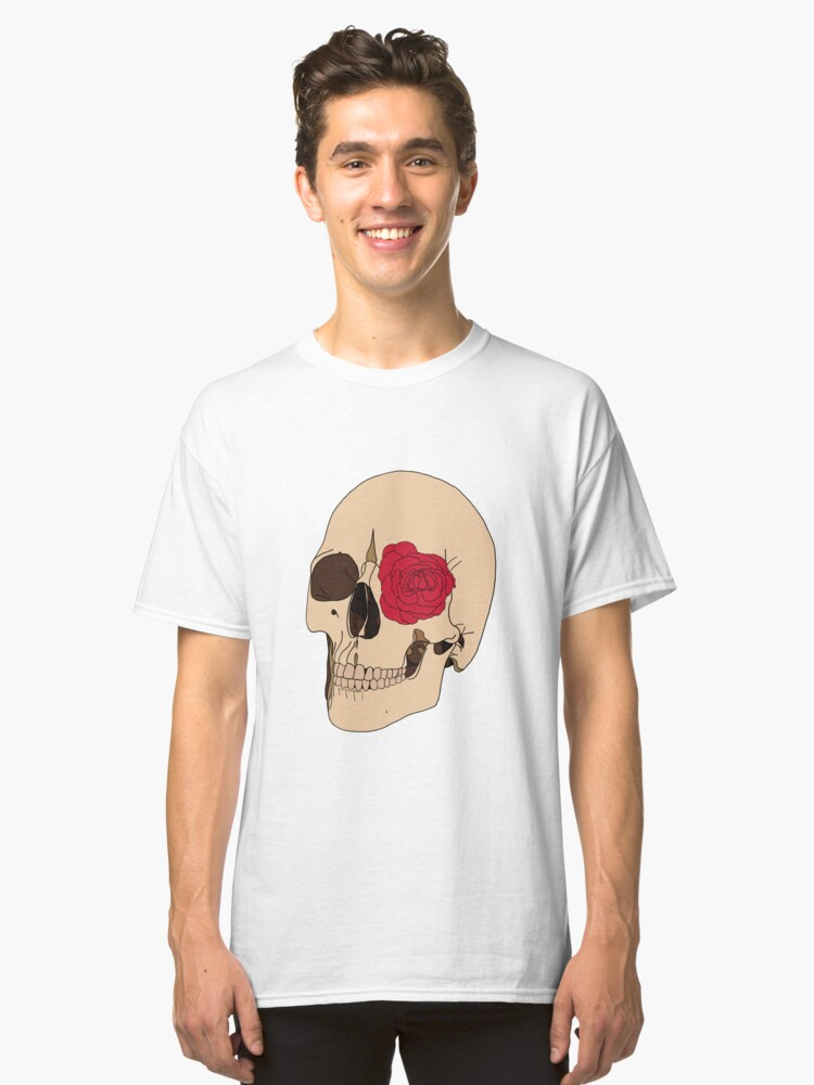 Alternate view of A Skull & a Rose Classic T-Shirt
