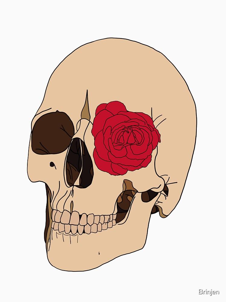 A Skull & a Rose by Brinjen