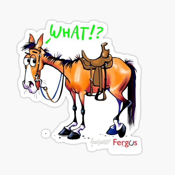 Fergus the Horse: WHAT!? Sticker