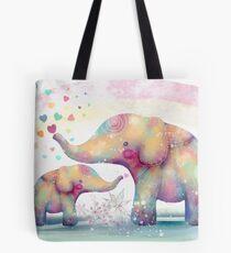 elephant affection Tote Bag