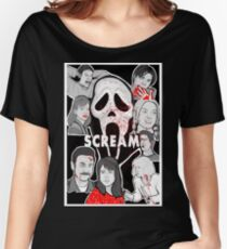 Scream character collage Women's Relaxed Fit T-Shirt