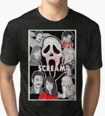 Scream character collage Tri-blend T-Shirt