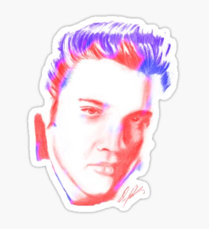 elvis drawing Sticker