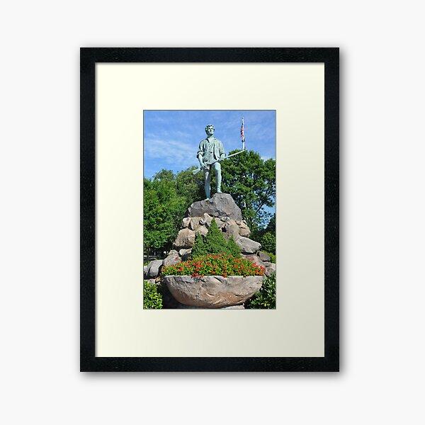 Minuteman Statue at Battle Green,  April 19, 1775 Framed Art Print