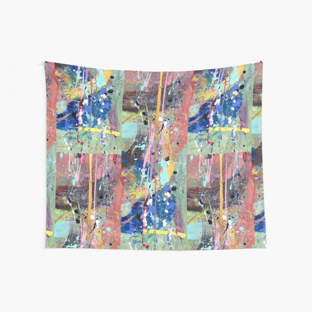 One tree river Wall Tapestry