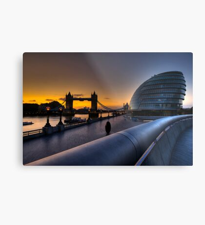 Southbank Sunrise: London, UK Metal Print