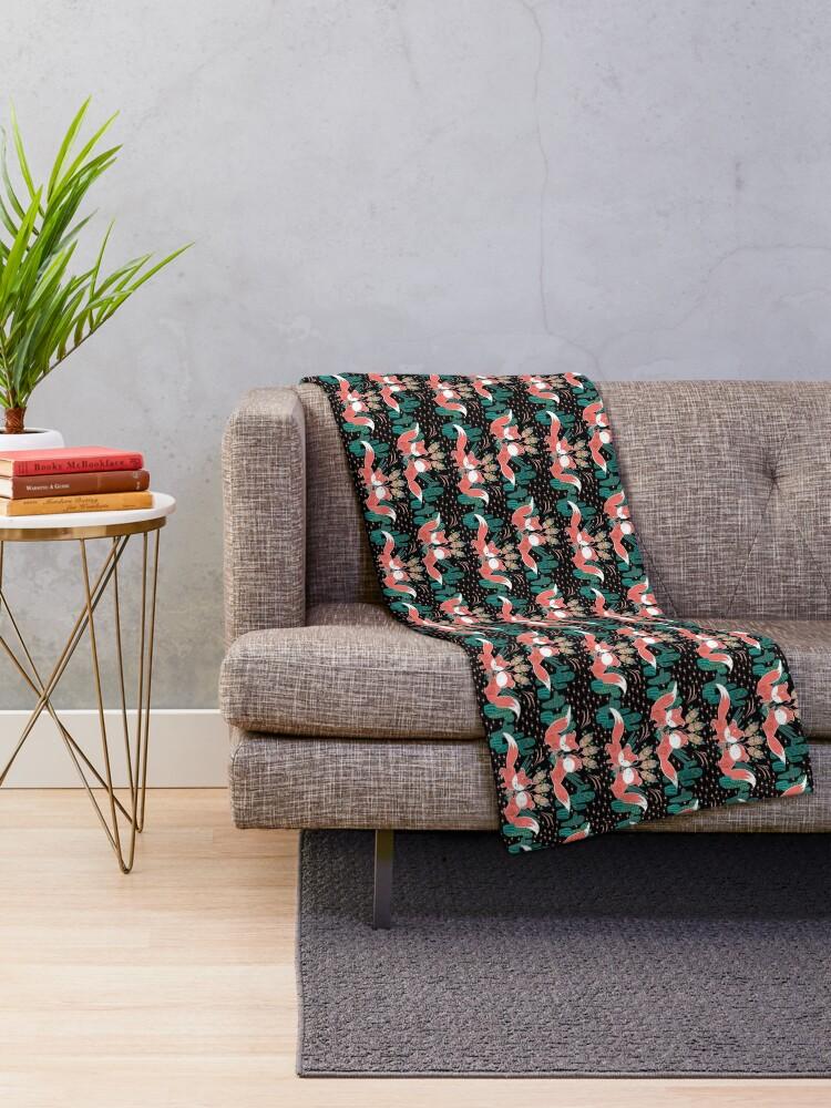 Alternate view of Foxy Boho Succulents Throw Blanket
