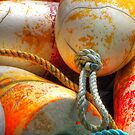 Crabbing Floats  - Red and Yellow by CarrieAnn