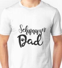 Proud Schnauzer Dad Slim Fit T-Shirt
