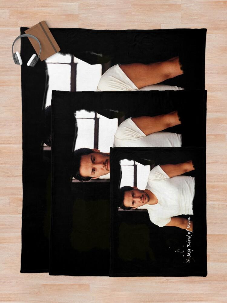 Alternate view of My Kind Of Man (Keanu Reeves Portrait) 5 Throw Blanket