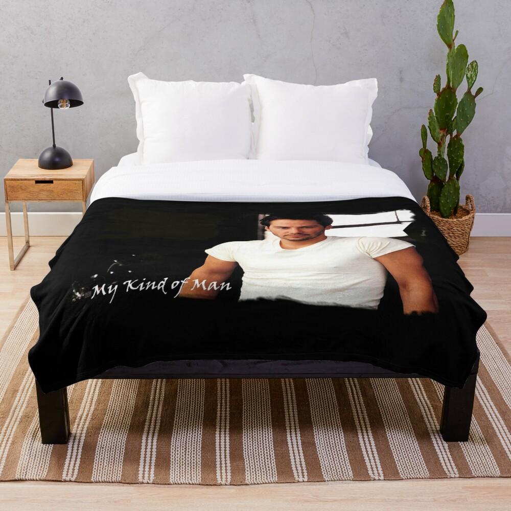 My Kind Of Man (Keanu Reeves Portrait) 5 Throw Blanket