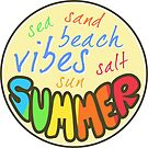 Hello Summer, Beach Vibes, summer sticker, by Alma-Studio