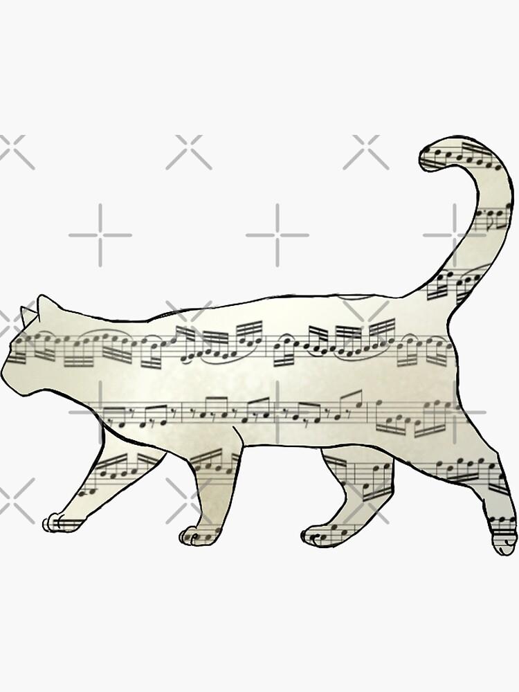 meowsic cat by thatmessofajess