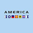 America Nautical Maritime Sailing Flags Light-Color by TinyStarAmerica