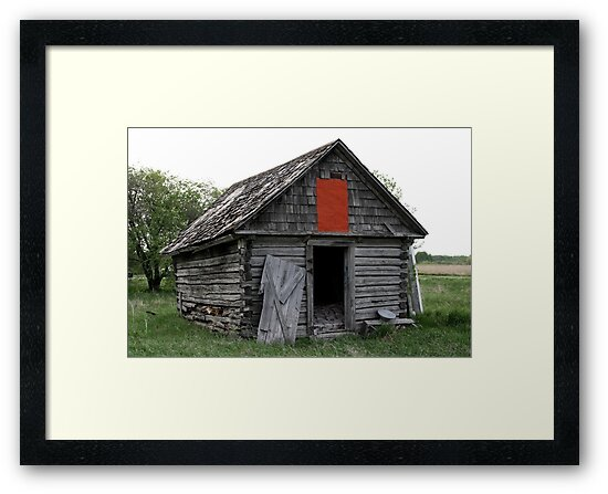 Old Log Cabin on the Prairies by Larry Trupp