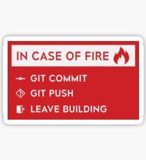 In case of fire - GitHub Sticker