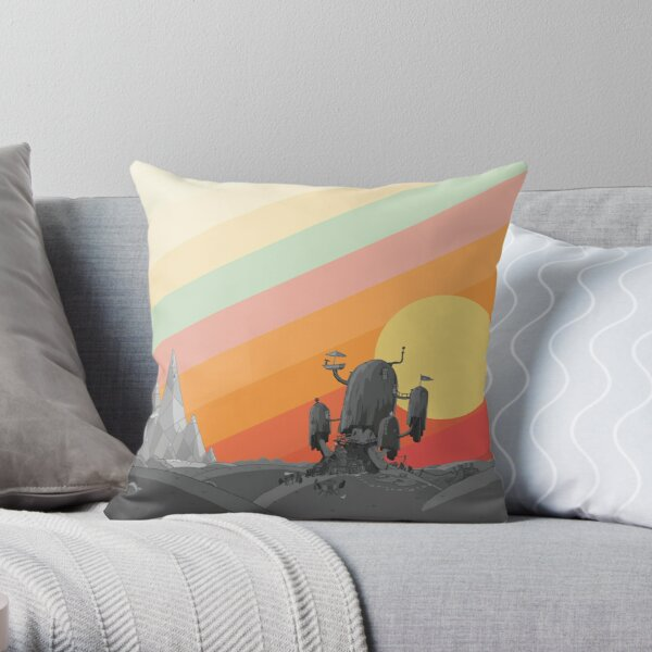 Land Of Ooo (Adventure Time) Throw Pillow