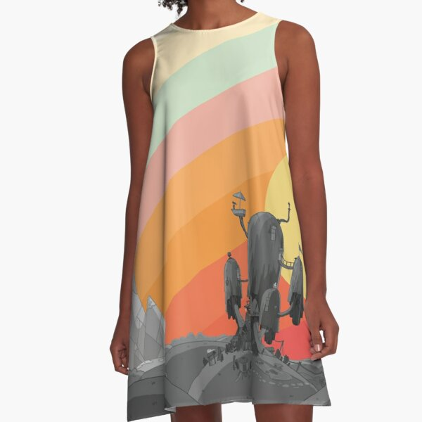 Land Of Ooo (Adventure Time) A-Line Dress