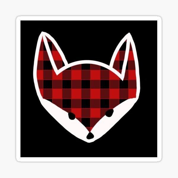 Lumberjack Fox Sticker