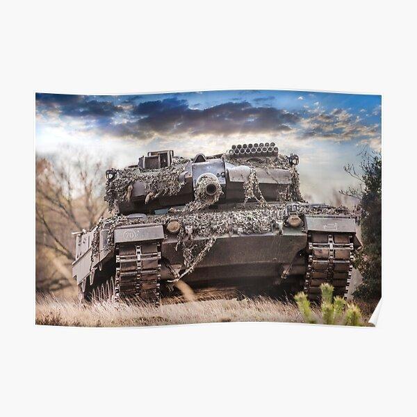 German main battle tank Leopard 2a6  Poster