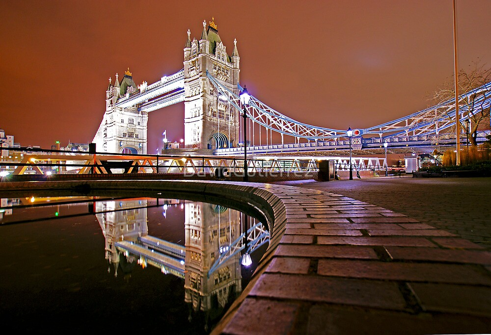 Reflections of Tower Bridge - London Night by DavidGutierrez