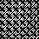 Black and White Geometric Pattern C2019-02 by webgrrl