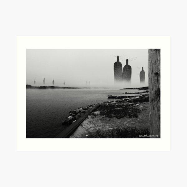 Giants on the River Art Print