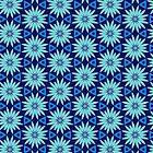 Aqua Blue Beachy Pattern V2019-1 by webgrrl