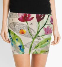 botanical composition Mini Skirt