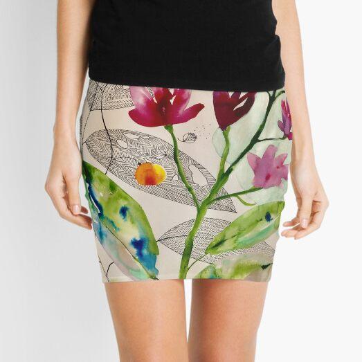 botanical composition Mini Skirt