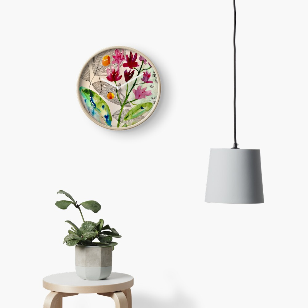 botanical composition Clock