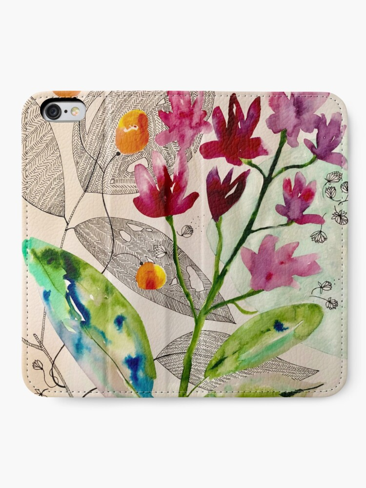 Alternate view of botanical composition iPhone Wallet