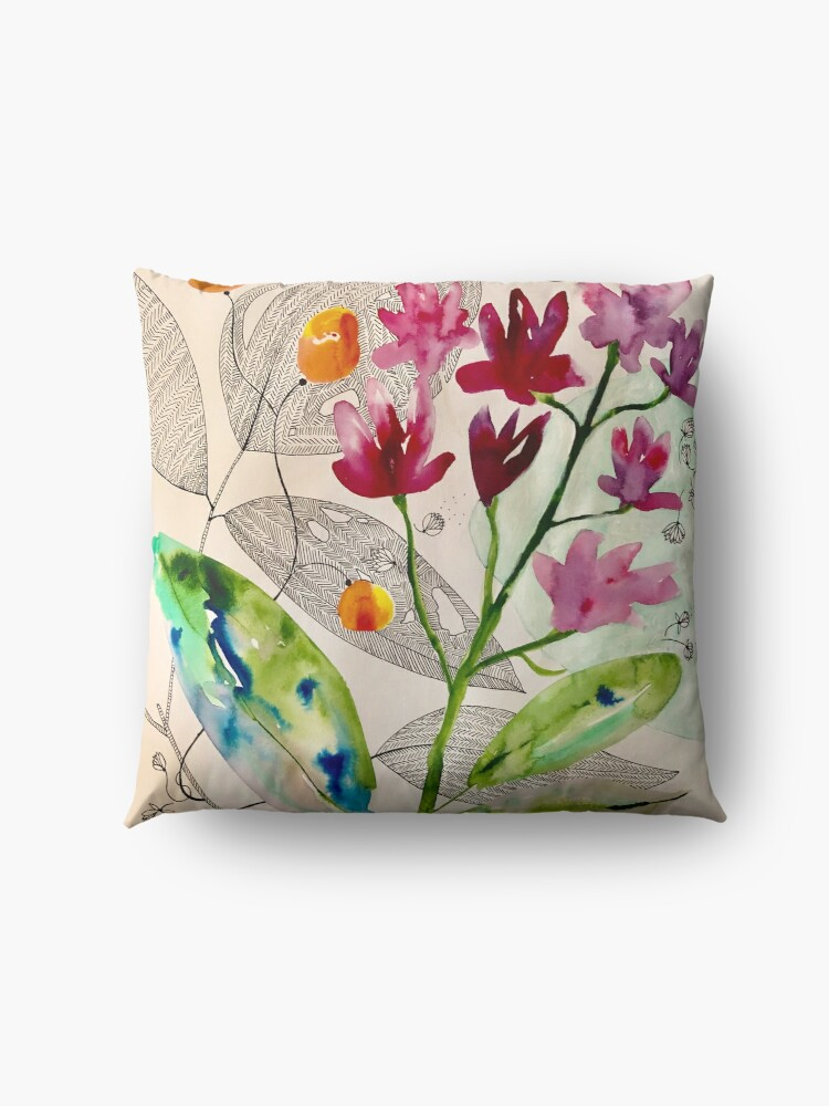 Alternate view of botanical composition Floor Pillow