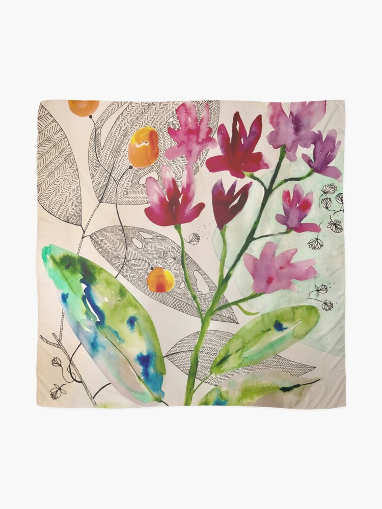 Alternate view of botanical composition Scarf