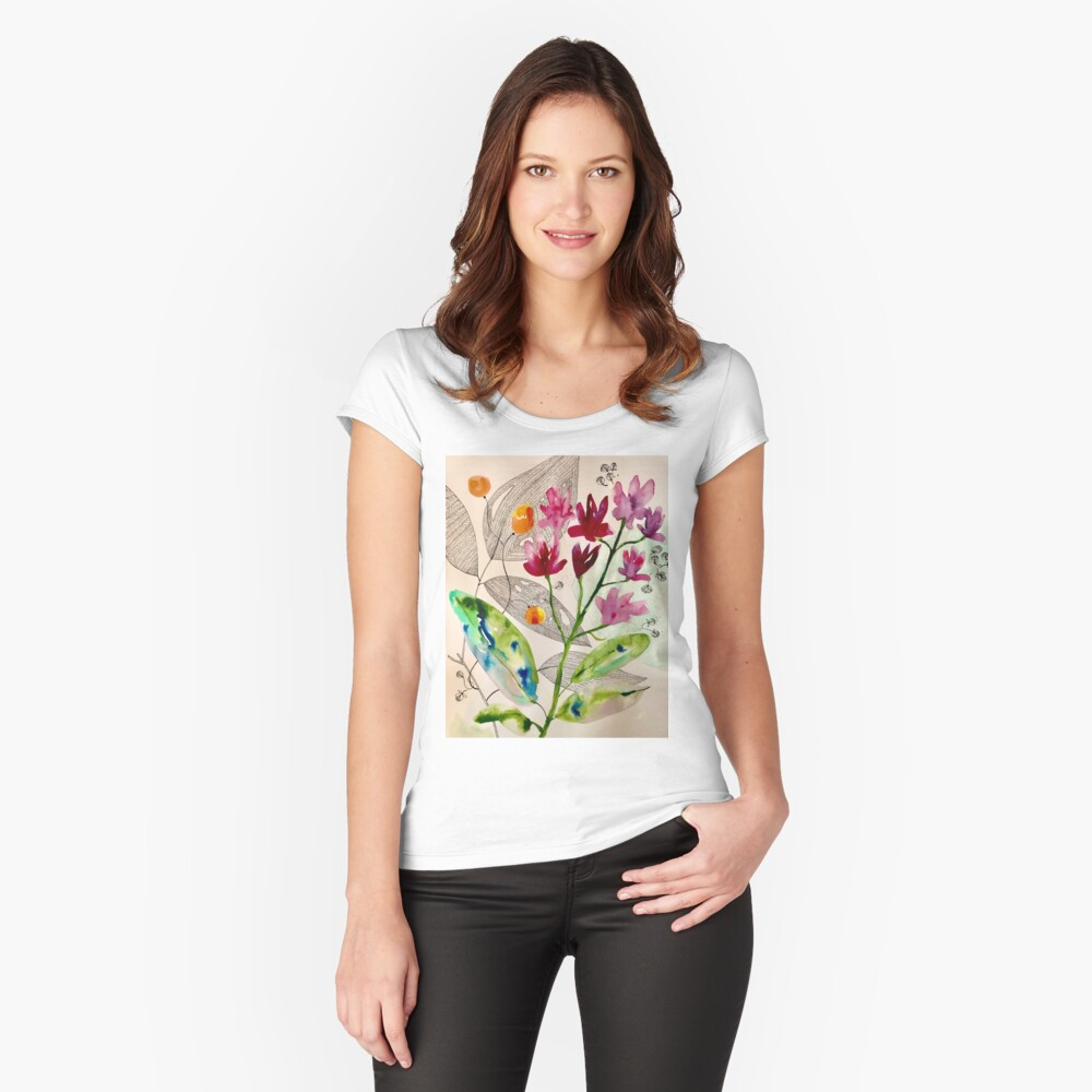 botanical composition Fitted Scoop T-Shirt