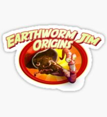 earthworm jim origin Sticker