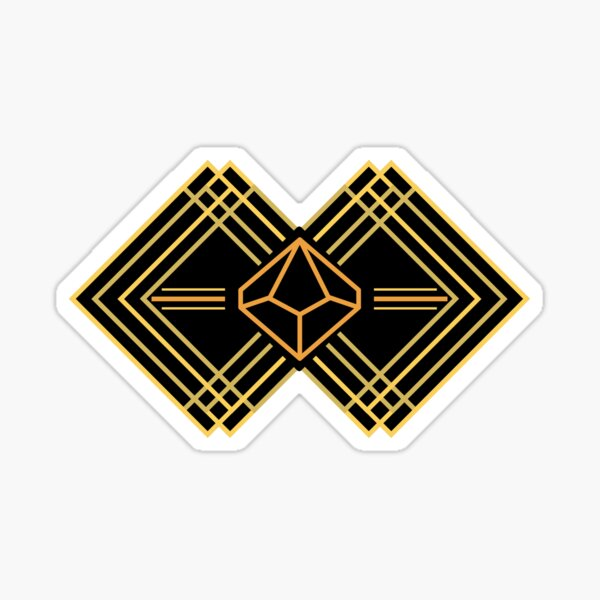 Art Deco d10 dice Sticker