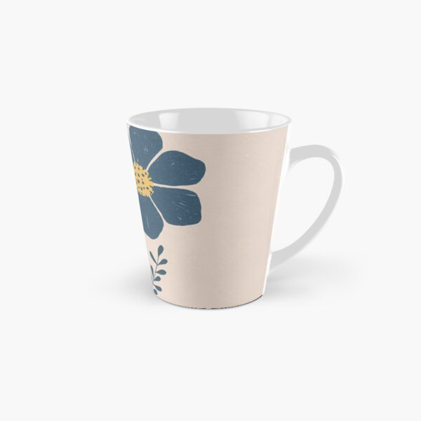 Blue Flower im Retro Design Tasse (konisch)