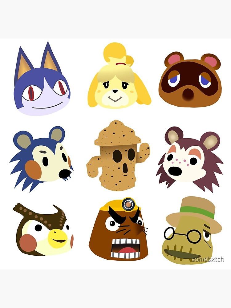 Animal Crossing Characters Art Board Print By Somebxtch Redbubble