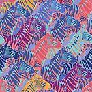 «Sin fisuras patrón gráfico repetido de cebras de pie» de Ekaterina Glazkova