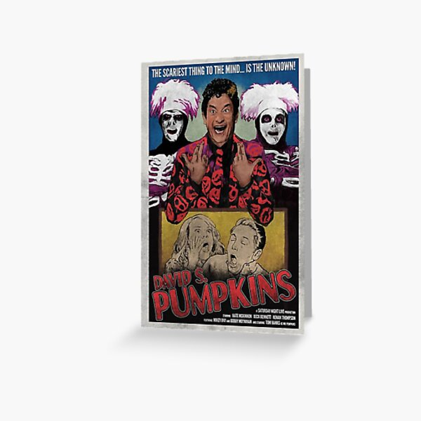 DAVID S PUMPKINS VINTAGE STYLE POSTER Greeting Card
